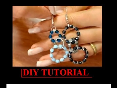 Diy tutorial orecchino a cerchio cristalli easy earrings for Rastrelliera fucili fai da te