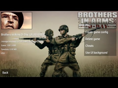 PPSSPP - PSP Emulator   Brothers In Arms D-Day Android Gameplay