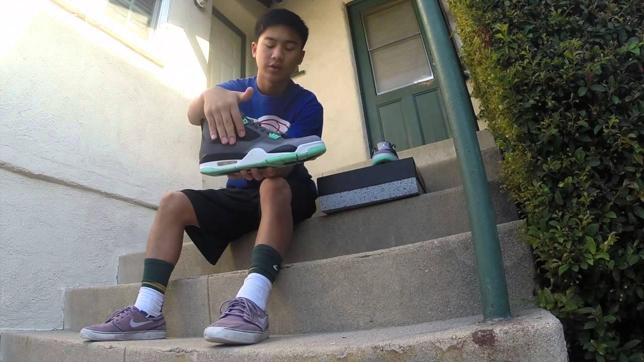af35c2fa0c75ec Air Jordan 4 Green Glow Review + On Foot - YouTube