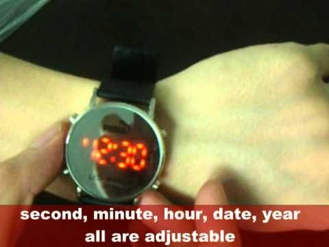 New Red LED Luxury Digital Lady Men Sport Black Watch.mpg