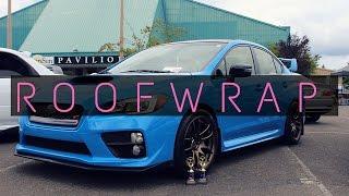 homepage tile video photo for 2016 Hyper Blue Subaru WRX STI Roof Wrap   Premium Auto Styling...