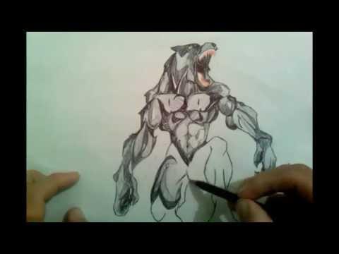 Axel Dreck como dibujar un hombre lobo  YouTube