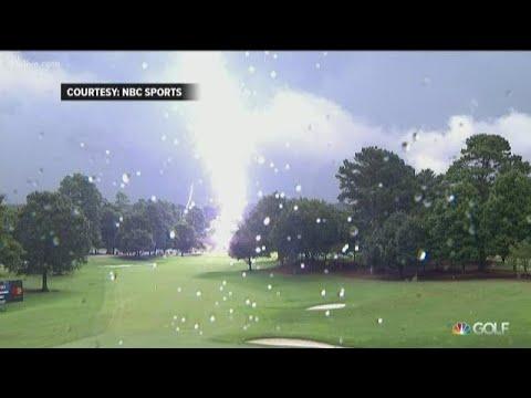 Lightning at East Lake not stopping PGA fans on Sunday