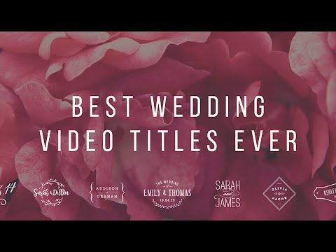 Best Wedding Les Ever Video Editing Templates