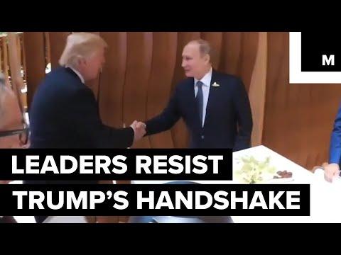 Trump handshake trolls