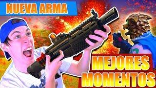 MEJORES MOMENTOS con la ESCOPETA PESADA LEGENDARIA | Fortnite Battle Royale