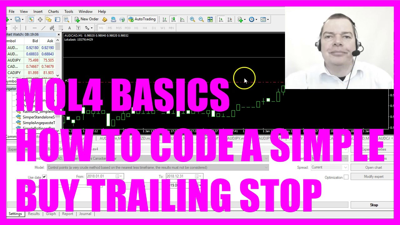 Mql4 Tutorial Basics 26 How To Code A Simple Buy Trailing Stop