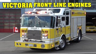 *YELLOW ENGINES!* [VICTORIA FIRE] Engine 1, Engine 2 & Engine 3 Response Compilation