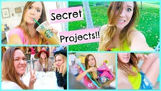 FILMING SECRET PROJECTS + DINNER WITH SIERRA & EVA!