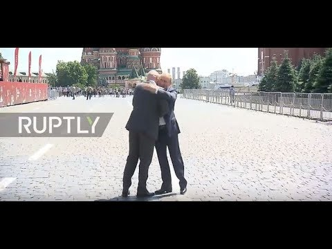 Russia: Putin and Infantino practise penalties in Red Square