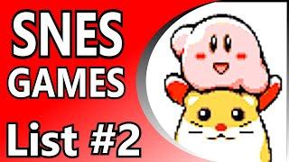 【List 2】 Top 100 SNES Games  Alphabetical Order