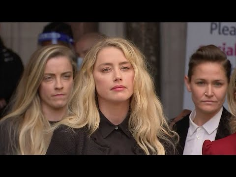 Amber Heard Chokes Back Tears Speaking About Trial