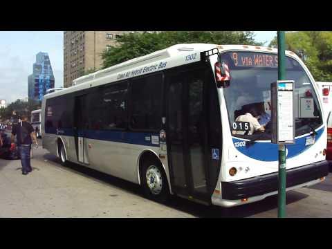 MTA New York City Bus Exclusive! : 2009 Designline Eco-Saver IV Hybrid 1302 On The M9 @ Essex St