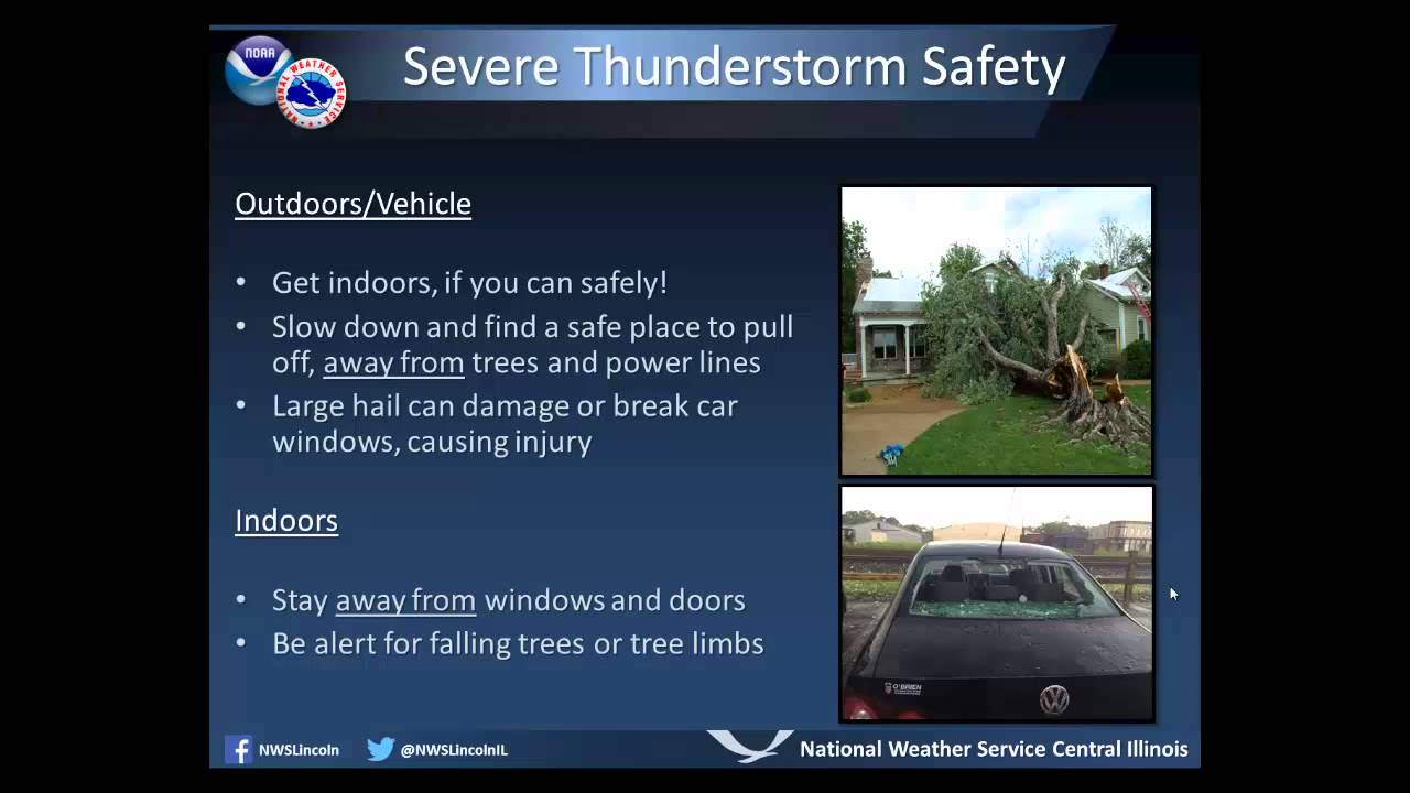 Severe Weather Prep Week Severe Thunderstorm Safety Youtube