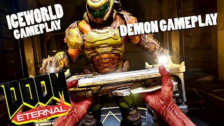 DOOM ETERNAL : New 30 min gameplay (Iceworld) + DEMON gameplay