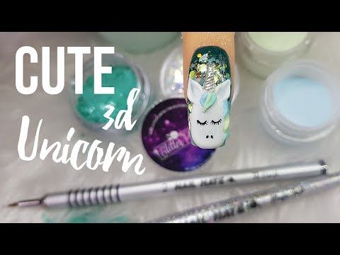 LEARN HOW TO MAKE A 3D UNICORN STEP BY STEP NAIL ART TUTORIAL
