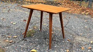 Thrift Store Rescue #7 | Quick Refinish of a Mid Century Table / Planner Group by Paul McCobb