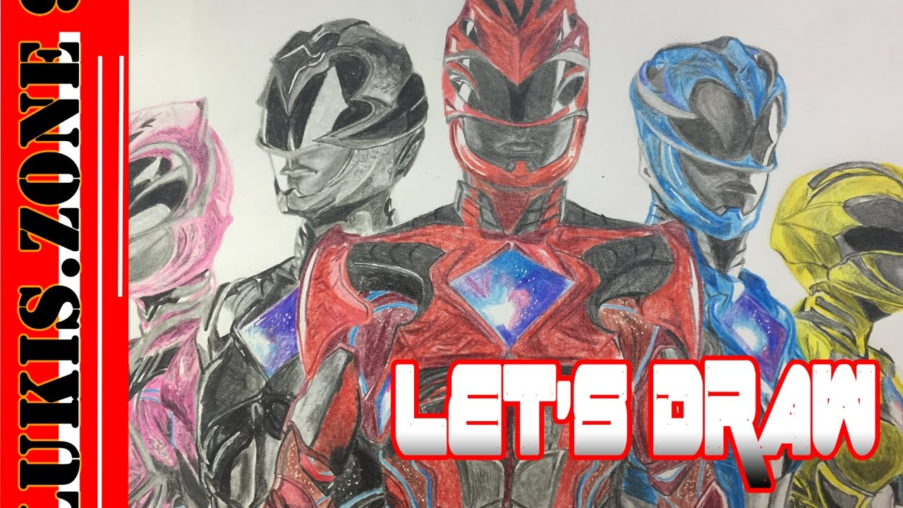 Let S Draw Power Rangers 2017 Youtube