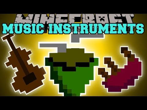 Minecraft: MUSICAL INSTRUMENTS MOD (THE POWER OF MUSIC!) Mod Showcase