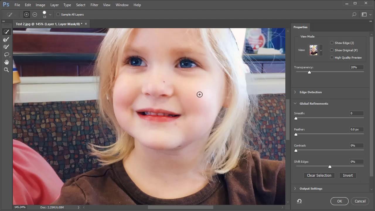 Adobe Photoshop CC2017  –  Tách tóc nền phức tạp