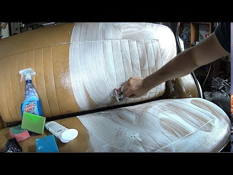 How to clean dirty CAR leather interior using GLASS cleaner