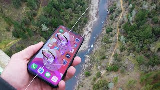 Dropping iPhone 11 Pro Down Tallest Bridge Using ZipLine! Will it Survive?