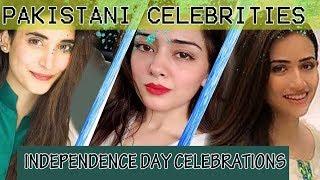 Sana Javed on Pakistan Day | Pakistani celebrities pakistan day celebrations | 14 August Celebration