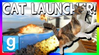 CAT LAUNCHER DEATHMATCH | Gmod Funny Mini-Game (Cat Crossbows)