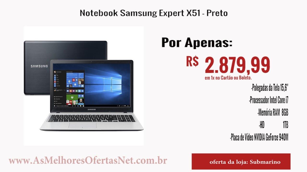 Notebook samsung expert x51 -  Oferta Encerrada Notebook Samsung Expert X51 Preto As Melhores Ofertas 2017