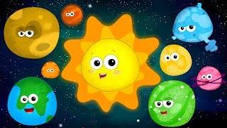 The Planet Song Learn Planets Nursery Rhymes Song For Kids Baby Rhymes