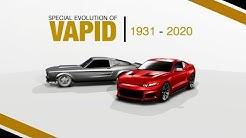 GTA I Special Evolution of Vapid / Evolução Especial da Vapid (1931-2020)