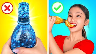 FROZEN HONEY BLUE VS YELLOW  || Eating And Buying 1 Color FOOD For 24 HOURS by 123 GO! CHALLENGE