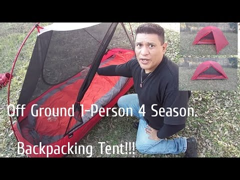 Off Ground 1-Person 4 Season Backpacking Tent