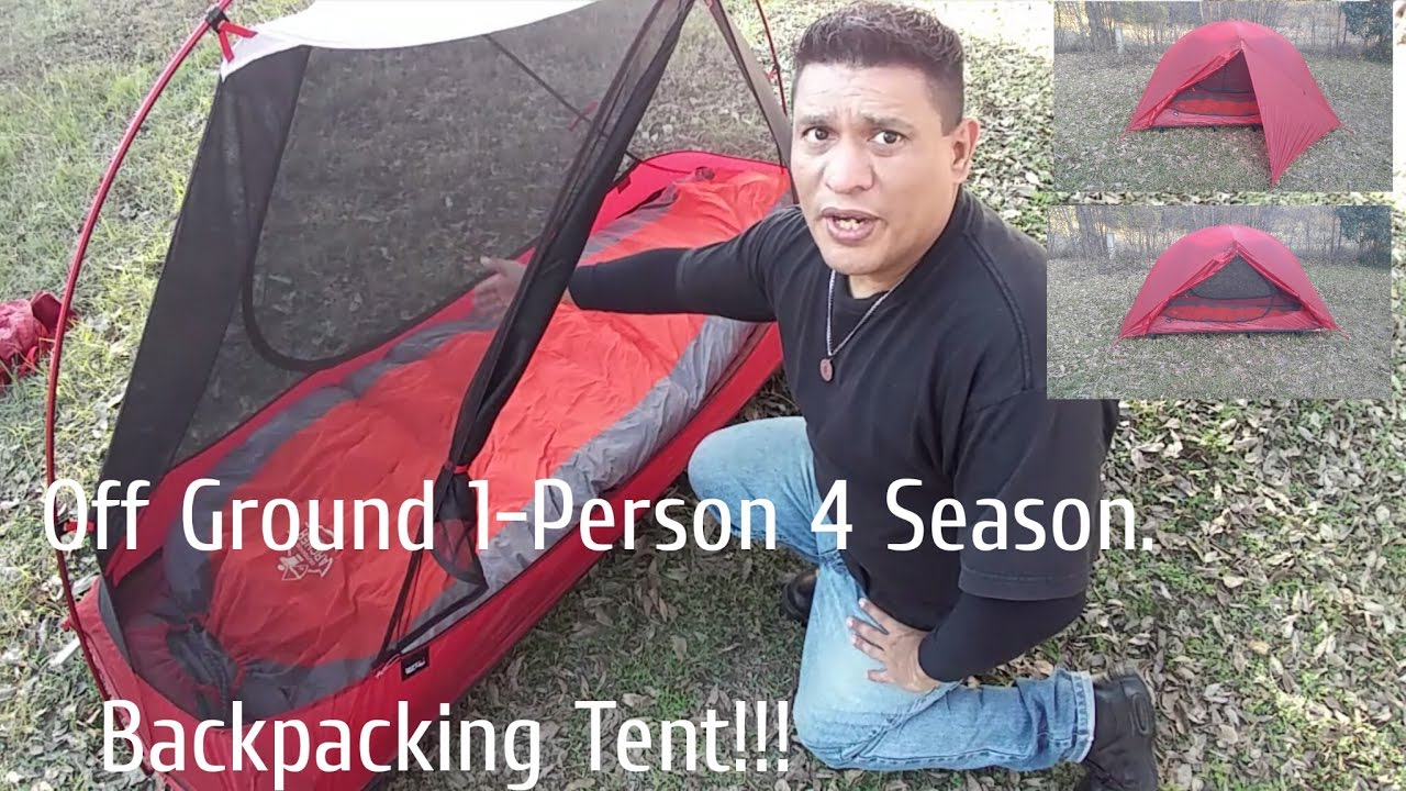 Off Ground 1-Person 4 Season Backpacking Tent  sc 1 st  YouTube & Off Ground 1-Person 4 Season Backpacking Tent - YouTube