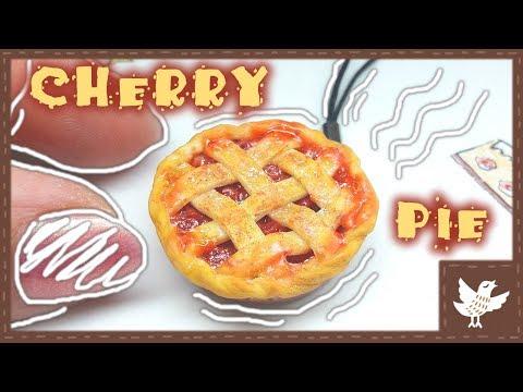 DIY Miniature food || Cherry Pie || Polymer Clay Tutorial