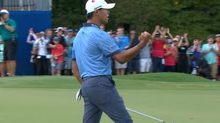 Si Woo Kim wins the 2016 Wyndham Championship
