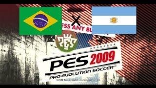 PES 2009 - Clássico Brasil x Argentina