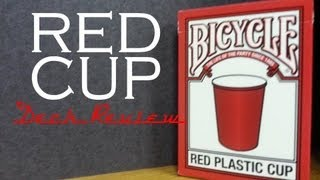 Red Plastic Cup - Bicycle USPCC - Playing Cards Review