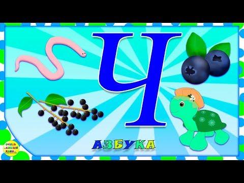 Азбука для малышей. Буква Ч. Учим буквы вместе. Развивающие мультики для детей