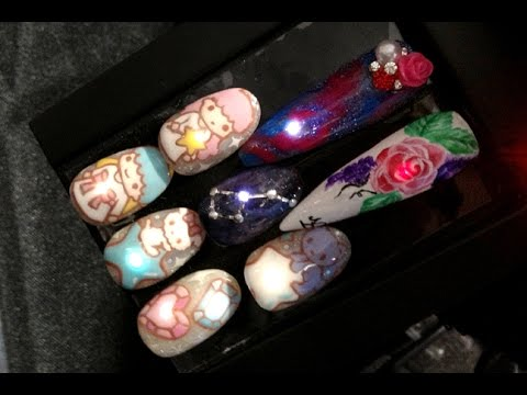 LED Nail Art Lights Up ISSE Long Beach 2015