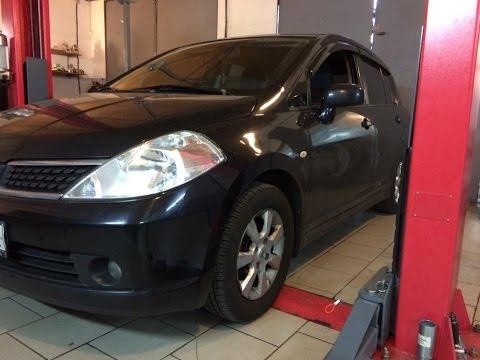 Как поменять масло Nissan Tiida