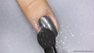 Mirror nails with Dance Legend pigment / Зеркальные ногти с пигментом Dance Legend