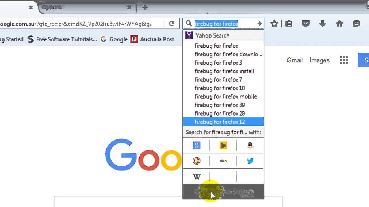 How to get rid of bing in firefox