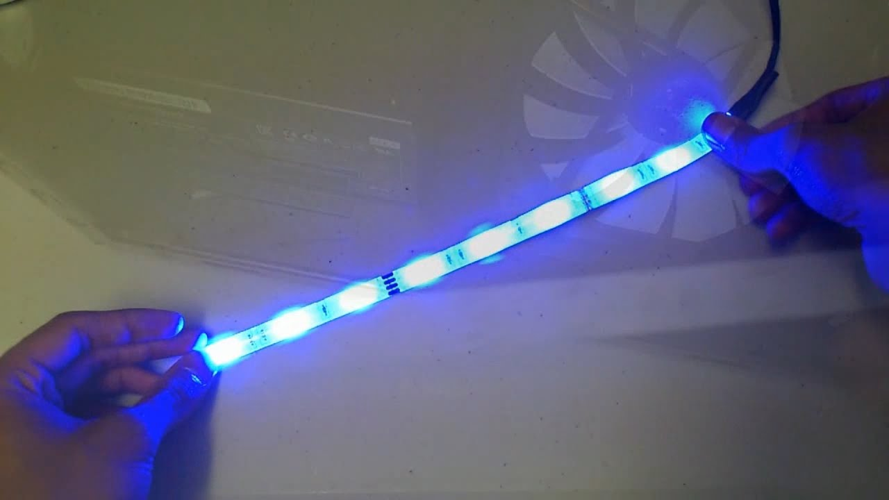 Blue led strip pc show off your amazing build youtube mozeypictures Image collections