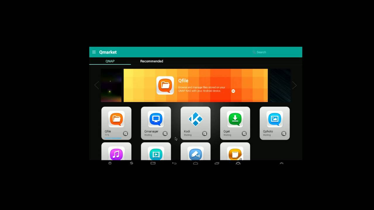 QNAP Android Interface