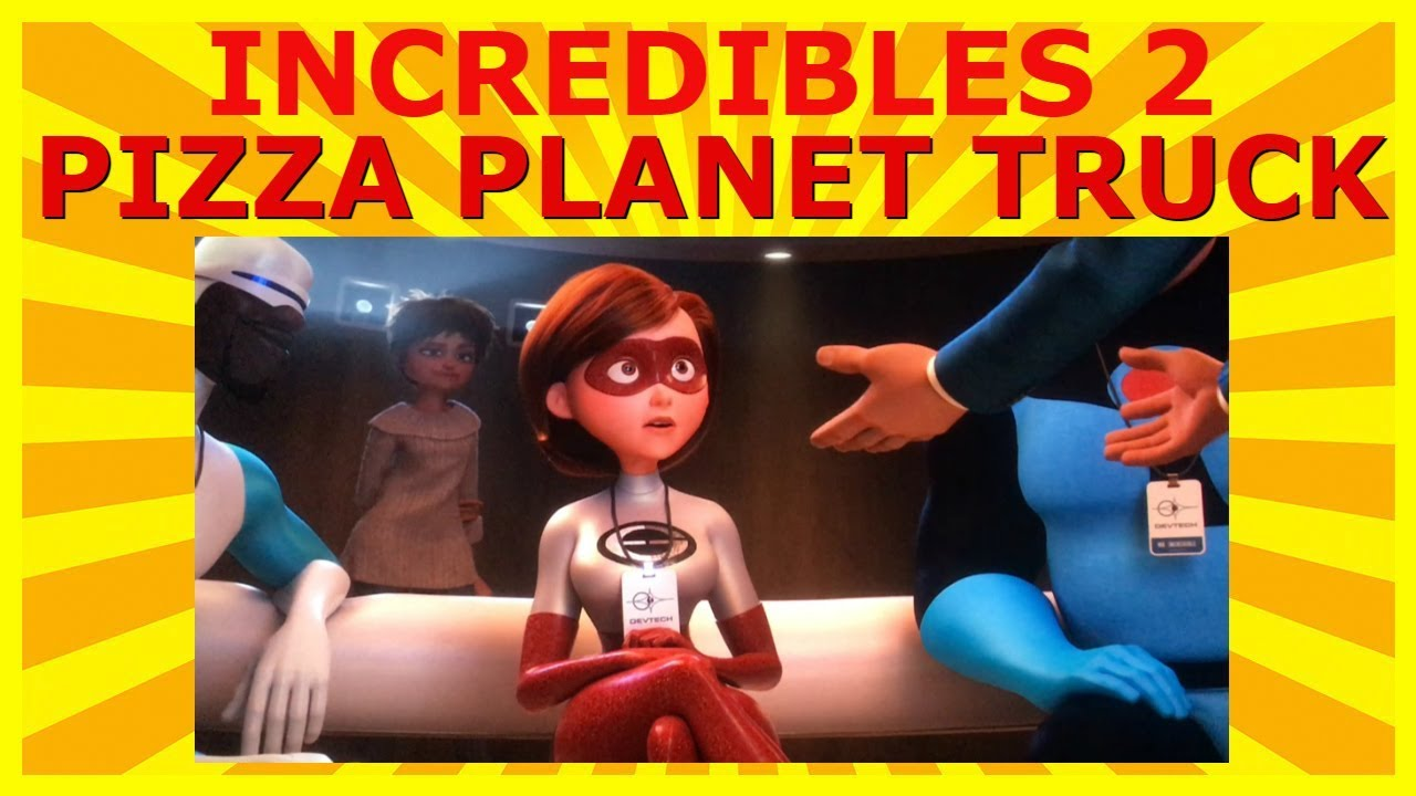 Incredibles 2 Pizza Planet Truck Easter Egg Youtube