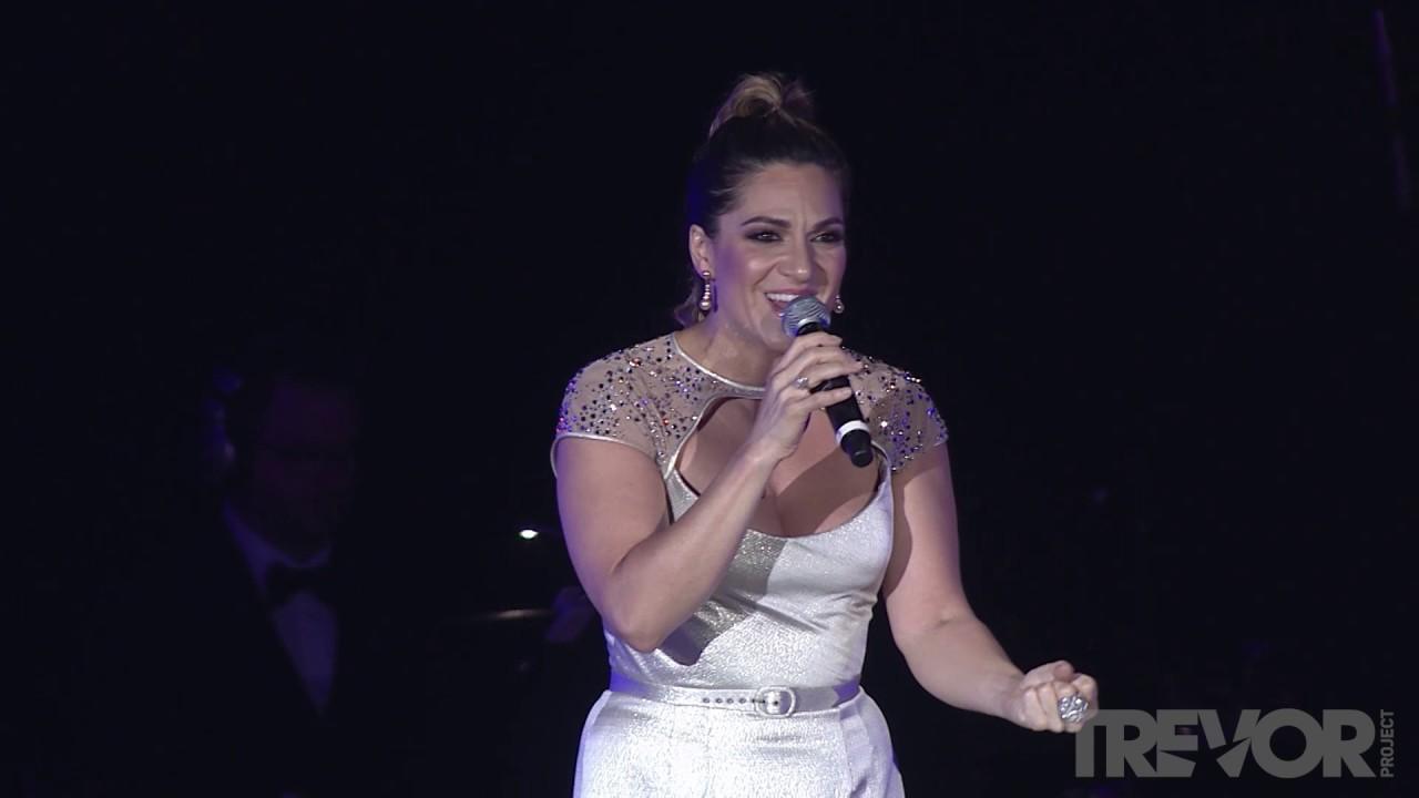 """TrevorLIVE NY 2017: Shoshana Bean performs """"Defying Gravity"""" and """"Gravity"""" Mashup"""