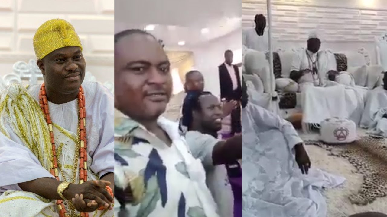 Download WATCH IFE YOUTH AND MODAKEKE YOUTH GATHERED THEMSELVES AT OONI PALACE FOR PEACE