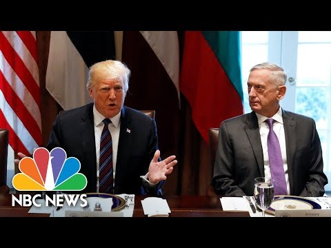 President Donald Trump Says Military Will Guard U.S.-Mexico Border Until A Wall Is Built | NBC News