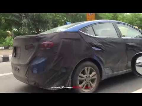 2016 Elantra Spotted Testing in India - Team-BHP